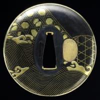 蛇籠図鐔 間 Hazama Tsuba