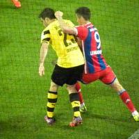 後半のドルトムント(BVB)とバイエルン・ミュンヘン(Bayern München)