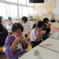 10月15日 玉穂小学校で、日本茶教室