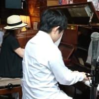 2019 6 9 矢野嘉子(p) 小野嘉史(p)at 高槻JK Cafeライブリポート