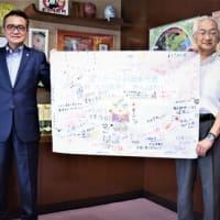 東京2020オリンピック男子サッカーの日本代表選手で箕面市出身の林大地選手に、市民からの寄せ書きを届けます