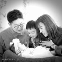 7/23 100日記念で家族写真・目線無し♫ 札幌写真館ハレノヒ