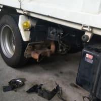 ドライブシャフトブーツ交換と排気触媒の清掃