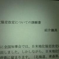 自民党県議連地位協定改定についての請願書