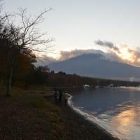 夕焼けの渚・紅葉まつり~山中湖②
