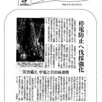 停電防止へ伐採強化・・・災害備え 中電と自治体連携