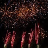 A display of fireworks