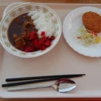 チキンカレー2/3サイズ、ポテトコロッケ
