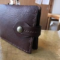 体験教室をしました/二つ折り財布