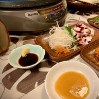 牡蠣の土手鍋の夕食