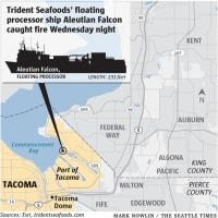 Fire crews battle blaze on giant fishing vessel in Tacoma