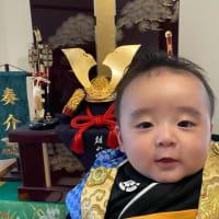 端午の節句・・・昨年暮れに生まれた横浜の孫・・・一度しか会っていないうちに、いつの間にか一人前の顔になってます。