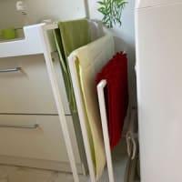 洗面所のタオル掛けを替えた