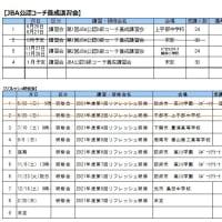 〔お知らせ〕JBA公認コーチ 講習会・研修会計画表(10/27版)