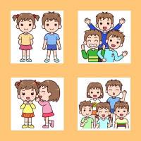 「友達」(幼児・子ども/人物)