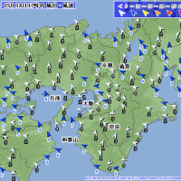 5月18日 アメダスと天気図。