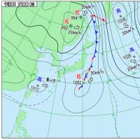 5月22日 アメダスと天気図。