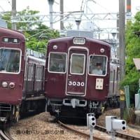阪急 西牧踏切(2012.5.20)  3030、3025 並び