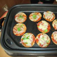 餃子の皮deピザ!!