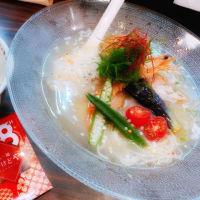 毎年恒例の市川のあけどやの夏麺劇場第一弾は、鯛と帆立出汁の冷製塩ラーメン❣️8周年おめでとう‼️