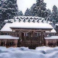 雪の長滝白山神社