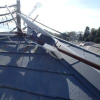 11月7日 台風で倒れたアンテナを交換
