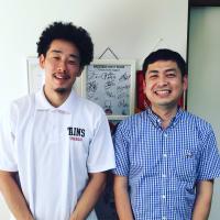 先日東京八王子トレインズの池田選手が来てくれました!