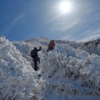 阿蘇_霧氷と雪化粧の 烏帽子岳登山 ~ 令和2年2月 霧氷の花に満足