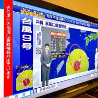 「旧盆直撃の台風9号」