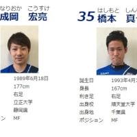 5月9日付で2名の選手を追加登録致