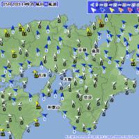 5月20日 アメダスと天気図。