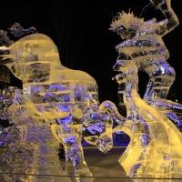 ブザーと声にビックリ! & 氷彫刻