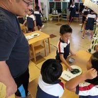 9月6日 とらのこ保育園で、日本茶教室