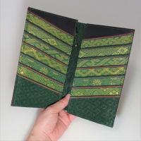 【ツクリモノ】畳の縁ポケットの長財布 緑と青 追加しました