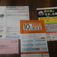 今度は 本当に10万円くれるって!? 来たよ~ 給付金の申請書だ☆彡 横浜は開港記念日だ!