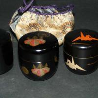 棗(なつめ)たち 茶入れ 茶道具