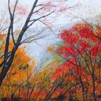 箕面の森の絵画(自作品)