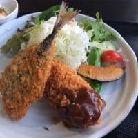 アジフライとグラタンコロッケのミックス定食