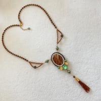 ウエーブドロマイトのネックレス