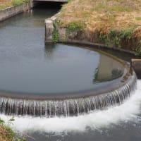 御宇田井手の扇形分水