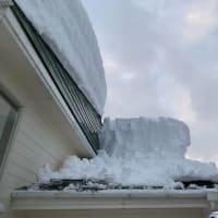 屋根、雪下し
