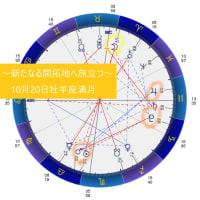 次なる開拓地へ旅立つ~10月20日牡羊座満月