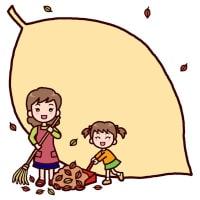 秋1(秋の季節・行事/枠・ふきだし)