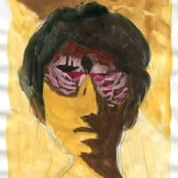 「習作」私ではない誰か2(水彩絵の具での人物画)