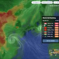 台風15号は、伊豆半島あたりに上陸。