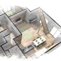 (仮称)暮らしのシーンに和モダンのエスプリが集う格子の家新築計画設計デザイン・LDKと使い勝手、フレキシブルな空間で時間と質、空間を仕切る要素のデザインは天井と光のデザイン