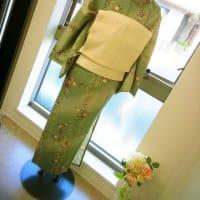 ひとえ着物コーデ☆裏地なし透けないひとえの着る季節ですね~