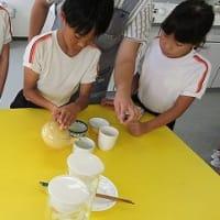8月29日 原里小学校で、日本茶教室