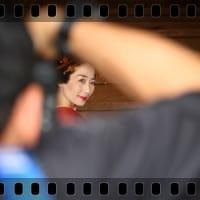 日本髪の美人を狙う