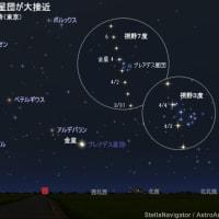 今日もポカポカ陽気…そして金星とプレアデス星団が大接近 .✫*゚・゚。.☆.*。・゚✫*.